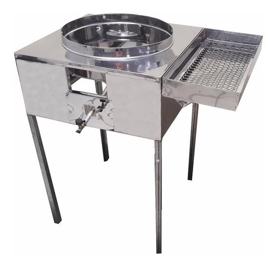 Fogão Pasteleiro Fritador Pastel C Escorredor S/ Tacho 18 R2