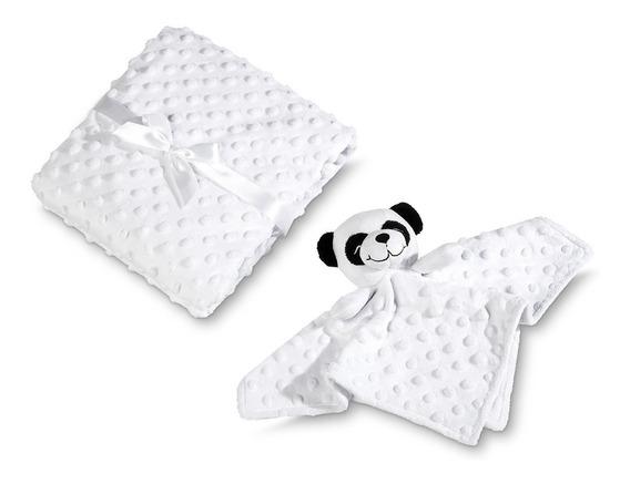 Manta Para Bebê Com Naninha Urso Panda - Lepper
