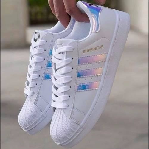 Zapatillas adidas Superstar Originales Tornasoladas Talle 39