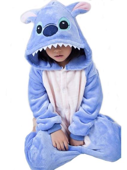 Kigurumi Pijama Stitch Mameluco, Disfraz, Niños