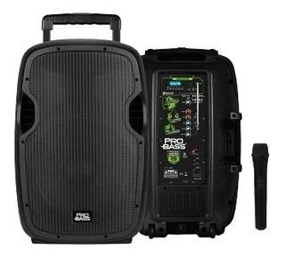 Bafle Portable Potenciado 1600w Under Ground 15 Pro Bass