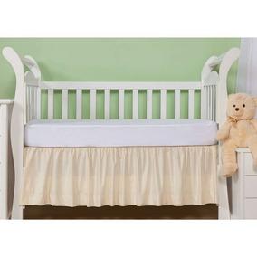 Saia Para Berço Baby Franzida 233 Fios Bege Plumasul