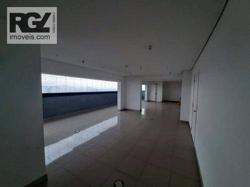 Imagem 1 de 16 de Sala Para Alugar, 98 M² Por R$ 4.400/mês - Encruzilhada - Santos/sp - Sa0235