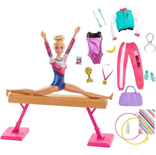 Barbie Set De Gimnasia Con Función Giratoria