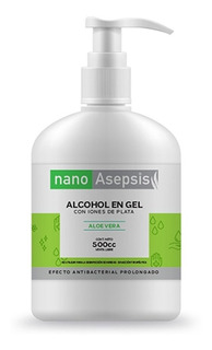 Alcohol En Gel Nano Asepsis Con Aloe Vera 500cc
