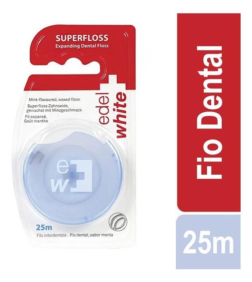 Fio Dental Suiço Edel-white Expanding Superfloss Suave 25m