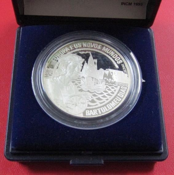 Portugal 1993 Moneda Plata 25 Ecu Barco Europa Nuevos Mundos