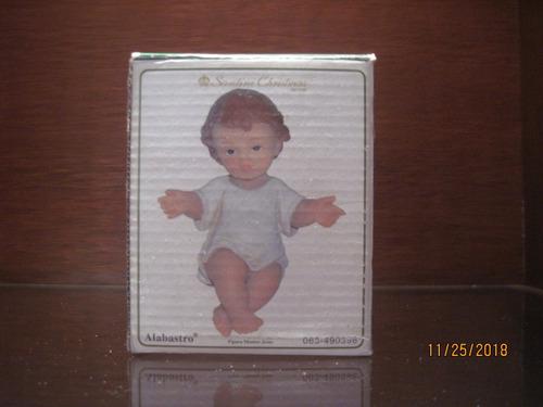 Imagen 1 de 2 de Niño Dios Marca Santini Estilo Italiano 8cm En Alabastro