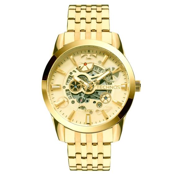Relógio Technos Esqueleto Automático Classic 8205nq/4x