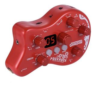 Pedal Multiefectos Portatil Para Guitarra Rojo