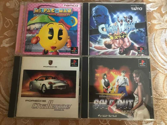 Lote 4 Jogos Originais Playstation 1 (black Disc)