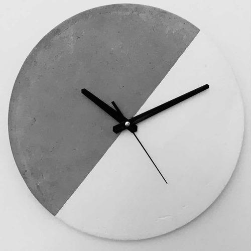 Reloj De Pared De Concreto 30cm De Diámetro