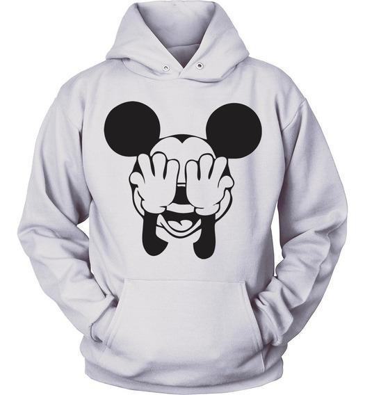 Blusa Moletom Mickey Mouse Disney Minnie Canguru Unissex