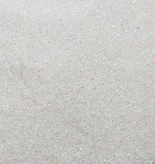 Glitter Gibre Givre Purpurina Tornasolado Blanco Por Kilo