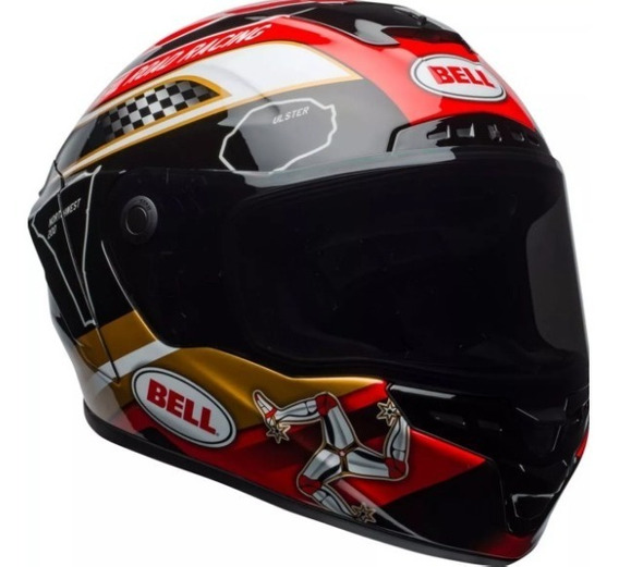 Capacete Bell Star Mips Isle Of Man Gold + Viseira Proatint