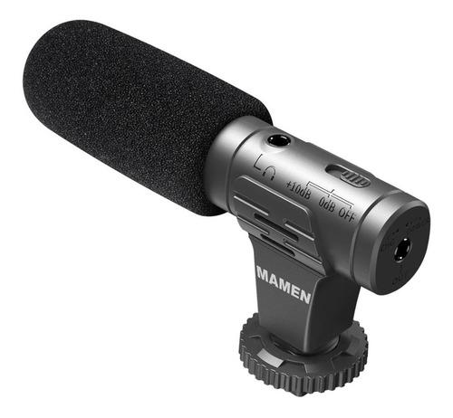 Imagem 1 de 7 de Microfone Direcional P/ Celular E Câmera Mamen - Mic-07