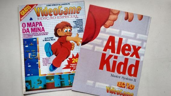 Revista Video Game 5a + Pôster Alex Kidd Mapa Da Mina E139