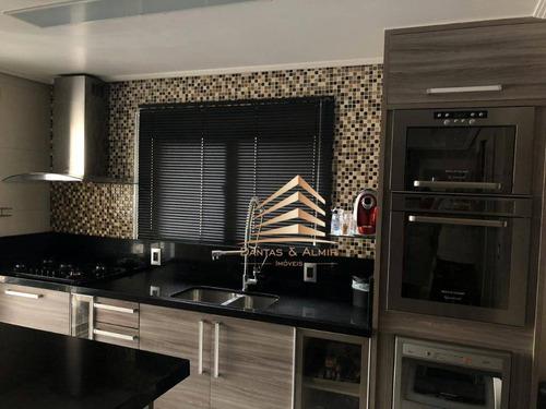 Apartamento Com 4 Dormitórios,2 Suites, 134 M² Parque Clube Guarulhos - Vila Augusta. - Ap1049