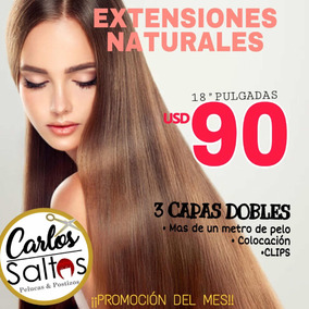 Extensiones Naturales $45 Por Metro Cabello Natural Virgen