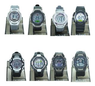 Reloj Digital Hombre Kiwi Ki02 Gris 1/2 Ct Plumitaa Impc