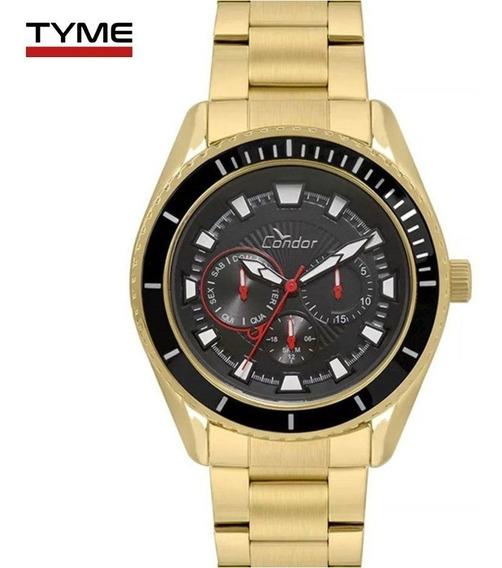 Relógio Condor Masculino Multifunção Co6p29in/4p Dourado Nfe