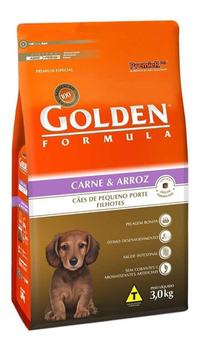 Imagem 1 de 1 de Ração Para Cães Golden Filhote Sabor Carne Mini Bits 3kg
