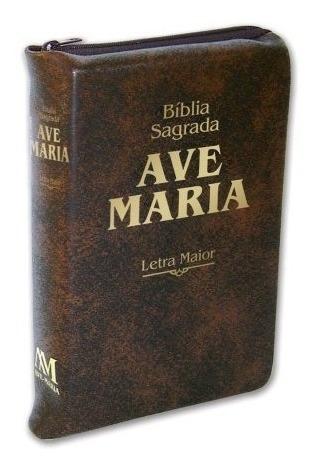Bíblia Ave-maria Letras Maior Com Ziper