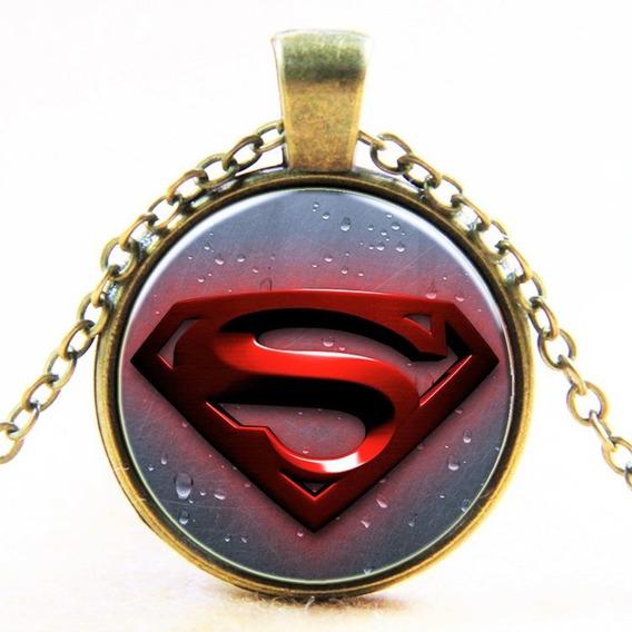 Colar Unissex Cabochão Heróis Marvel Liga Justiça Diversos