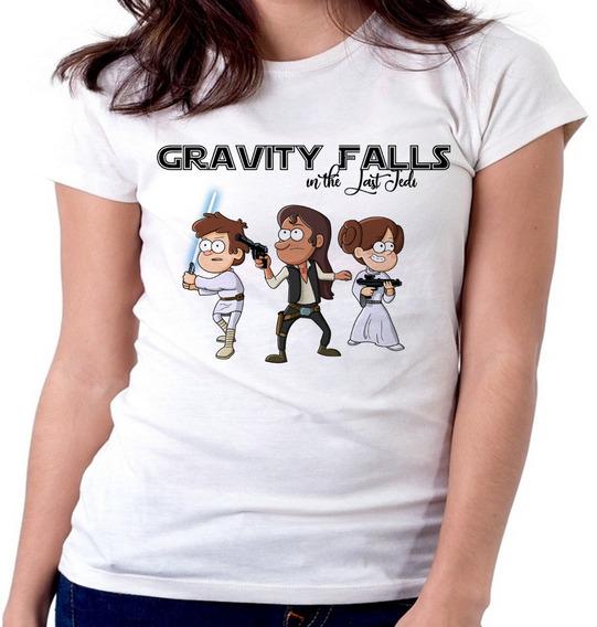 Blusa Feminina Baby Look Gravity Falls The Last Jedi Star Wa