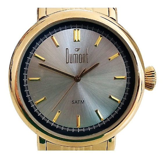 Relógio Unissex Dumont Dourado Ponta De Estoque Du2035lsy/4d