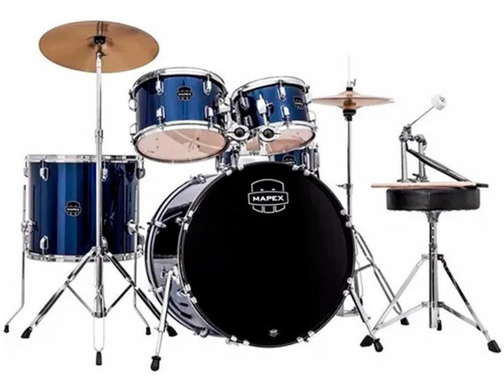 Bateria Acústica Mapex Prodigy Com Pratos Pdg5254tc Yb Azul