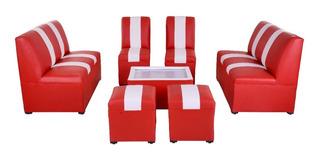 Sala Lounge Minimalista Moderna Sillones Puff Retro Salas