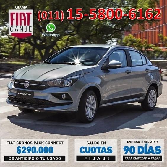 Fiat Cronos Entrega Inmediata $290.000 O Usado Cuota Fija A-