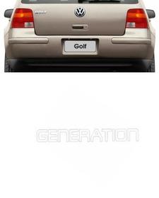 Emblema Adesivo Generation Resinado Golf 1992 Em Diante