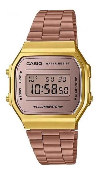 Relógio Casio Feminino Vintage A168wecm-5df C/ Garantia E Nf