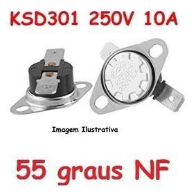 Termostato Ksd301 55 Graus Normal Fechado - 250 V 10 A Nf