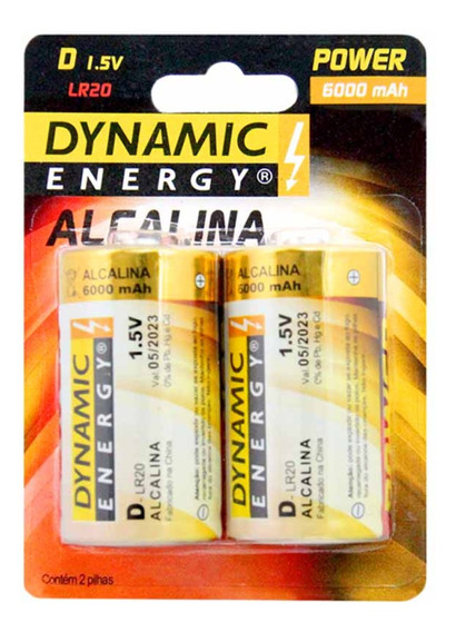 Pilha D Grande Alcalina 1,5v Lr20 86400 / 15 Pct / Dynamic E
