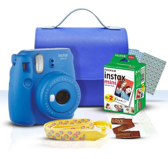Fujifilm Instax Kit De Inicio Mini 9 Cobalto