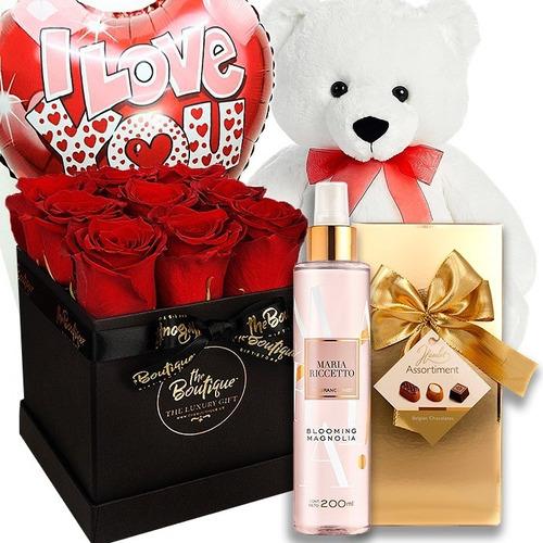 Imagen 1 de 3 de Florería Enamorados San Valentin Box Rosas Be My Valentine