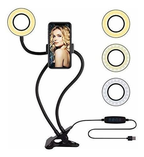 Anillo De Luz Para Selfie Con Soporte Para Teléfono