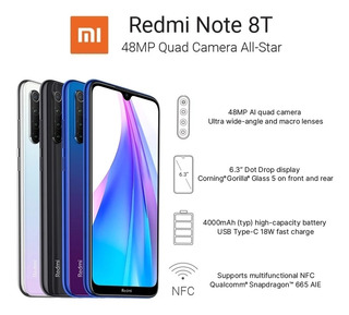 Xiaomi Redmi Note 8 T 64gb Branco .