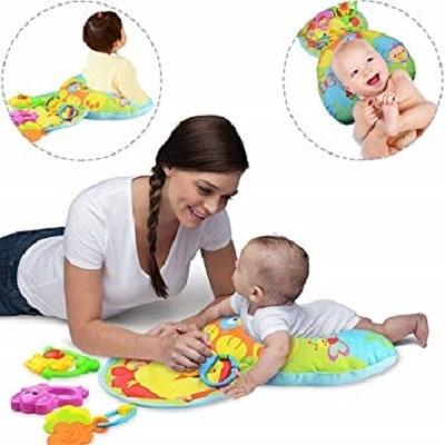 Almofada Divertida Bebe 2 Em 1 Atividades Dormir Brinquedo