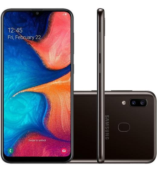 Celular Samsung Galaxy A20 32gb Tela 6.4 Dual Chip Preto