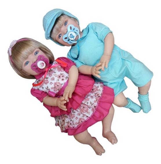 Casal Bebês Realistas Reborn Promoção! Reborn Mais Barata!
