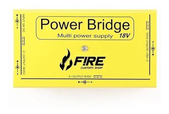 Fonte Chaveada 18v Fire Power Bridge Bivolt Amarela 12 Pedal