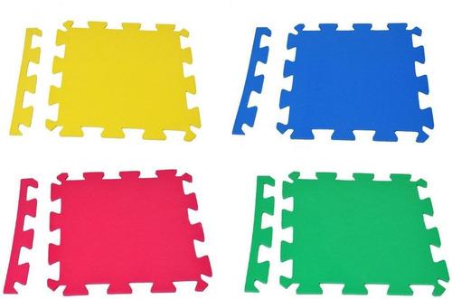 Kit 4 Placas Tatame Eva 50x50x1cm Tapete Infantil Colorido