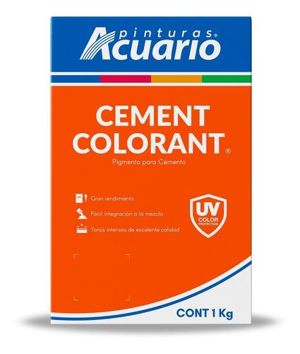 Imagen 1 de 3 de Color Para Cemento Marca Acuario 1kg. - Turquesa Y Amarillo