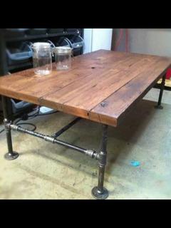 Mesa Comedor Para 6 Personas Vintage Industrial.