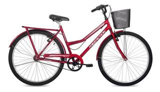 Bicicleta Paradise Aro 26 Com Cesta Free Action