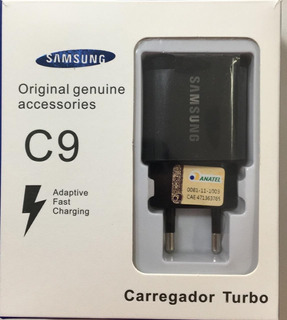 Kit2 Carregador Turbo Samsung S8 S9 S9 S10plus Cabo Tipo C9